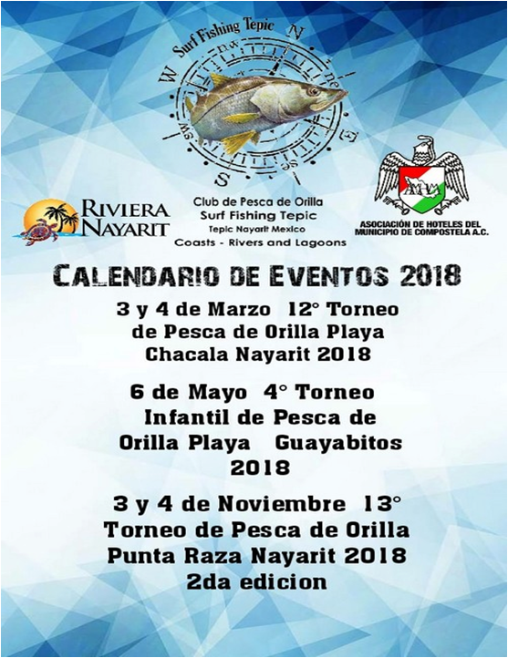 calendario eventos surf fishing tepic