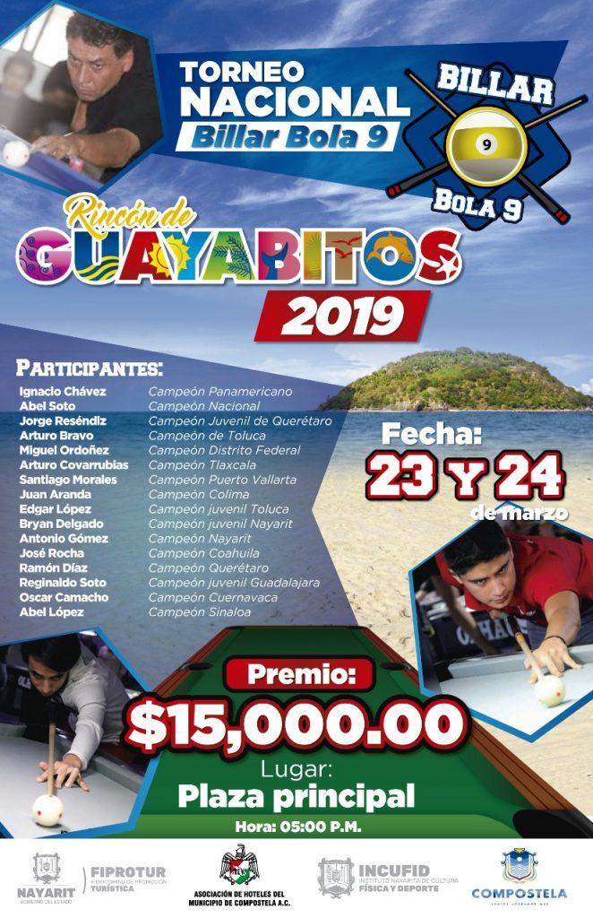 torneo nacional de billar bola 9 guayabitos